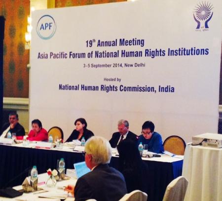 Хүний эрхийн Үндэсний Байгууллагуудын Ази Номхон Далайн Чуулганы 19 дэх удаагийн хуралд оролцлоо